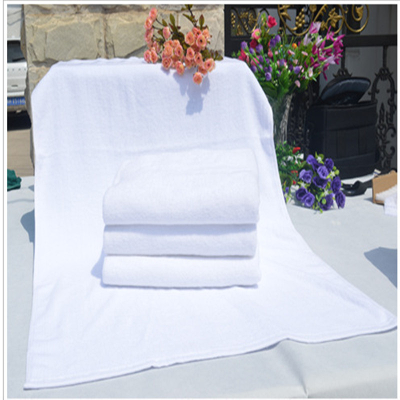 China wholesale hotel white cotton towel bath towel can be customized logo